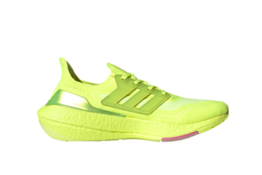 adidas Ultra Boost 21 Solar Yellow Pink fy0848