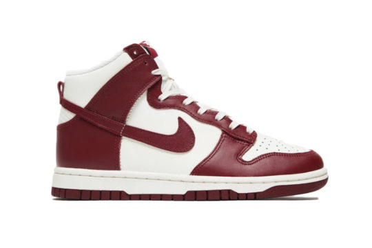 Nike Dunk High Sail Team Red Womens dd1869-101