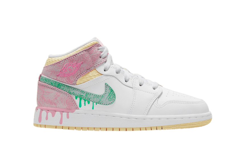 Nike Air Jordan 1 Mid Paint Drip dd1666-100