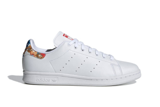 adidas Stan Smith White Vivid Red Womens fy5093
