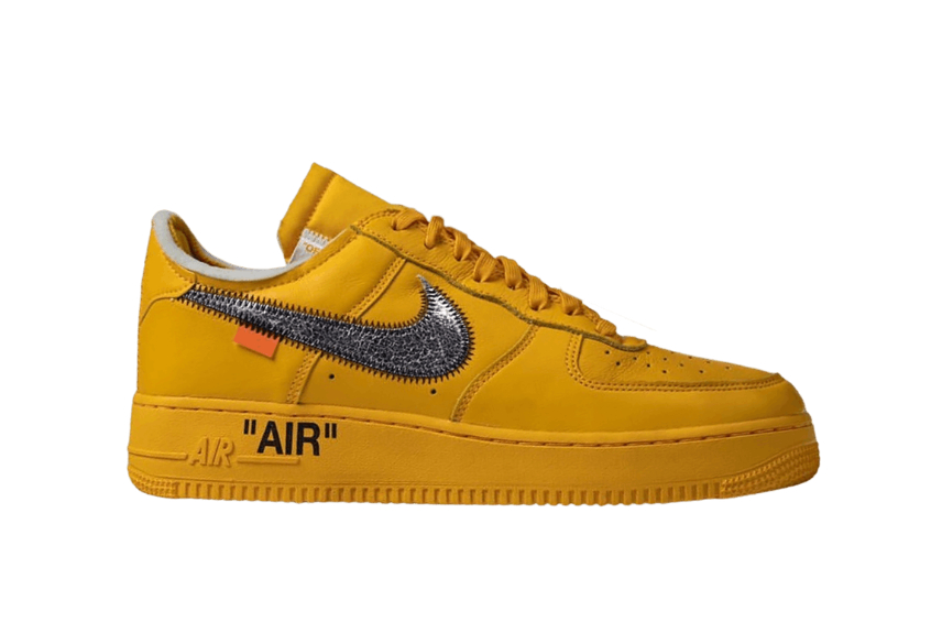 Off White x Nike Air Force 1 University Gold dd1876-700