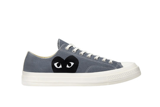 CDG Play Converse Chuck 70 Low Steel Gray