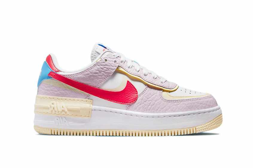 Nike Air Force 1 Shadow Pink Yellow Womens dn5055-600