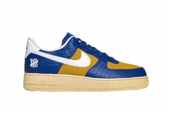 Undefeated x Nike Air Force 1 Low «5 On It» Blue Croc dm8462-400