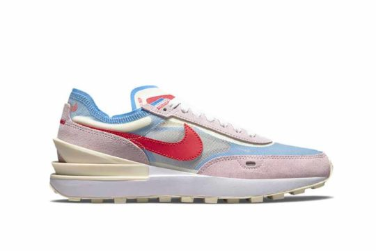 Nike Waffle One Pink Red Blue Womens dn5057-600