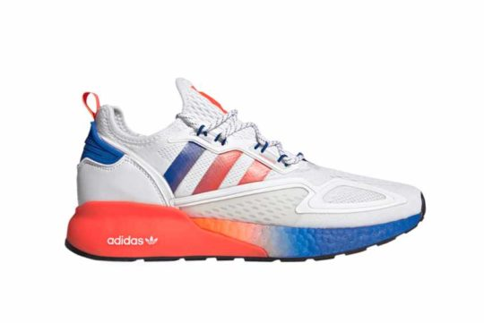 adidas ZX 2K Boost Cloud White Solar Red fv9996
